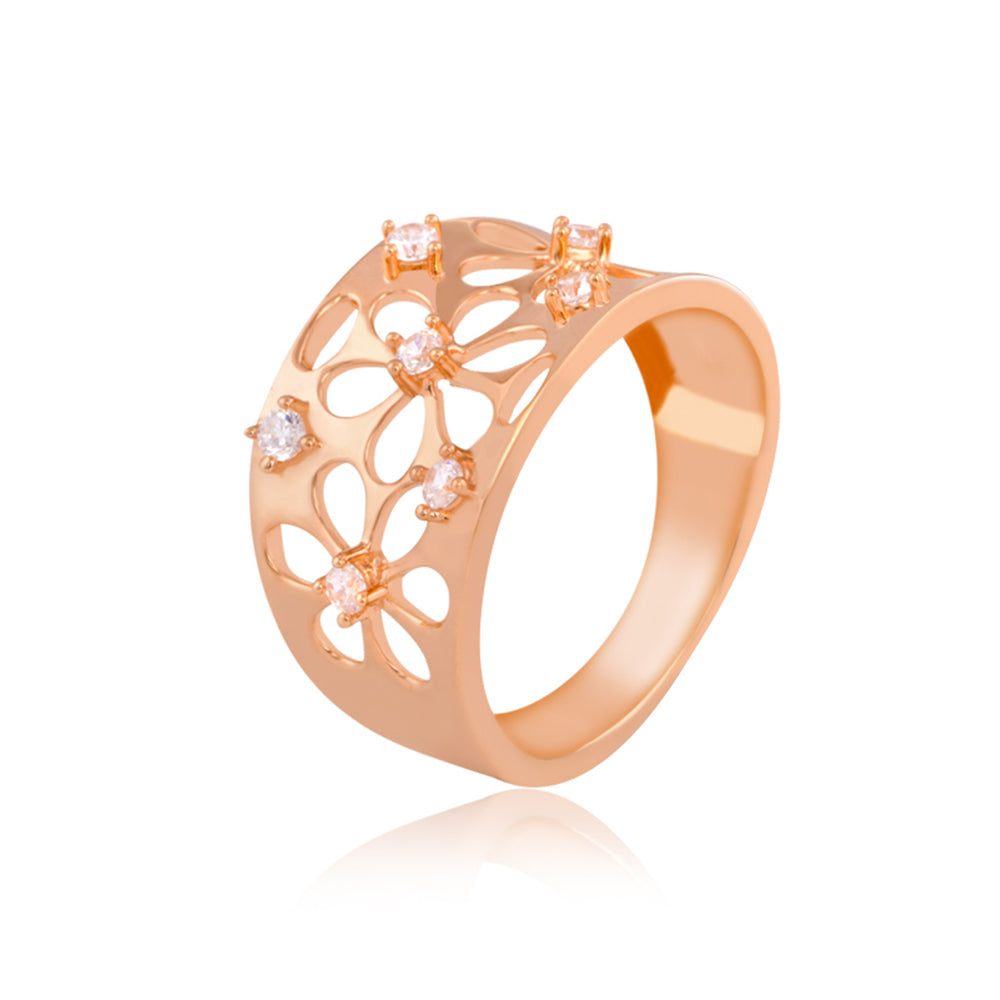 Shimmering Flower Ring