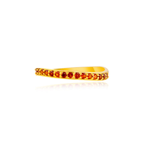 Sparkle Red Stack Ring