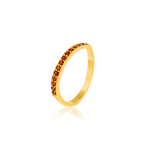 "Stack Ring Online | Sparkle Red Stack Ring | ""9 to 9"" Office Wear 
