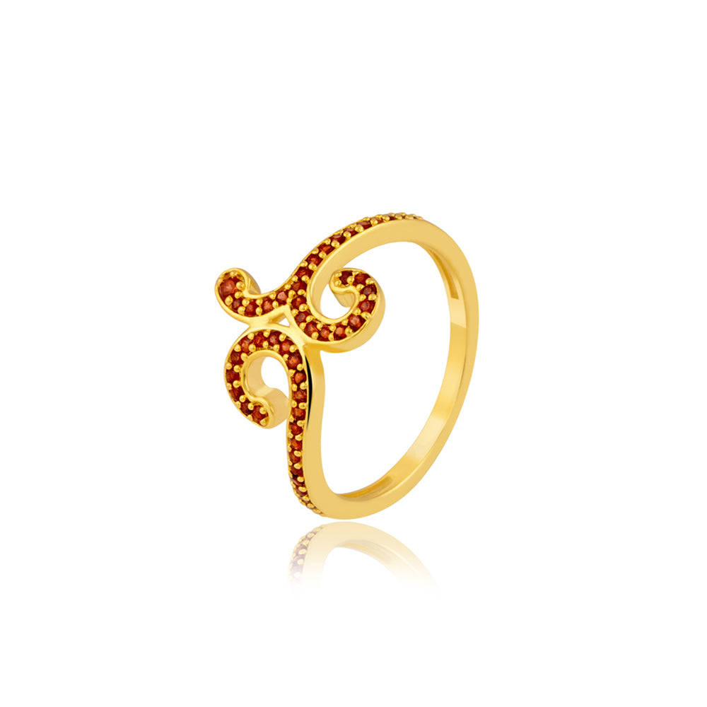 "Buy Cocktail Rings Online | Graceful Garnet Cocktail Ring | ""9 to 9"" Office Wear 