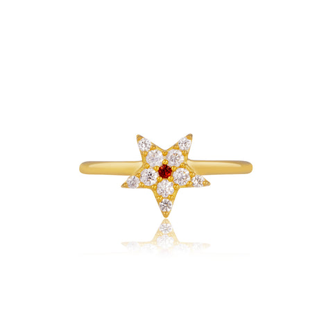 Star Shaped Sparkle Ring