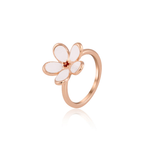 White Lily Blossom Ring