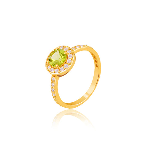 "Buy Silver Rings Online | Peridot Celebration Ring | ""9 to 9"" Office Wear 