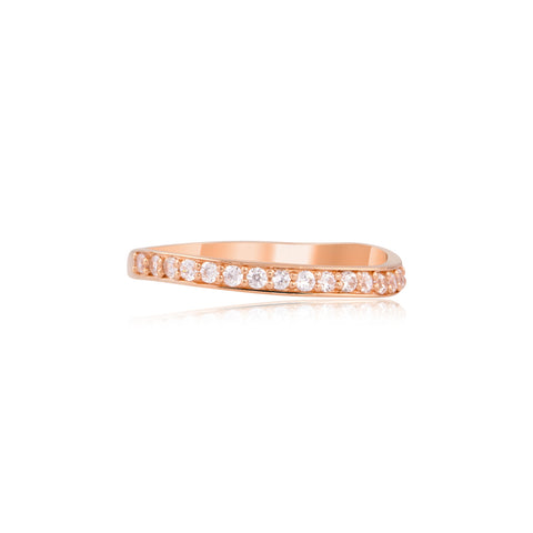 Sparkle White Stack Ring
