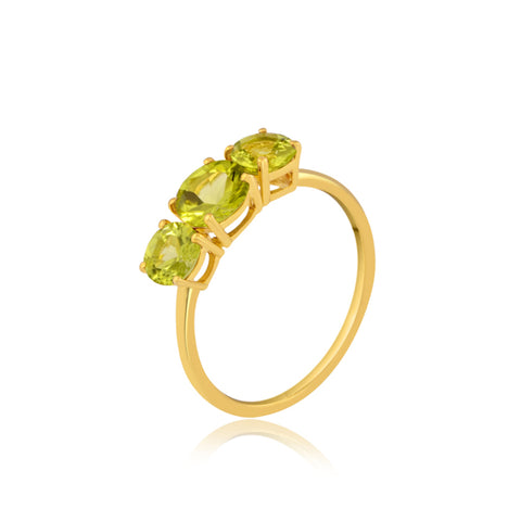 Peridot Trio Gemstone Ring