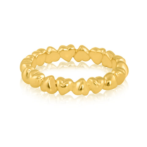 "Band Rings Online | Heart Studded Promise Band | ""9 to 9"" Office Wear 