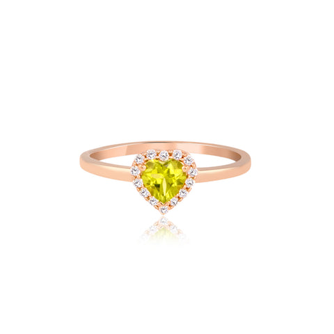 Heart-Shaped Peridot Ring