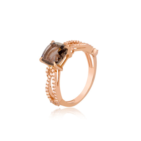 Smoky Quartz Cocktail Ring