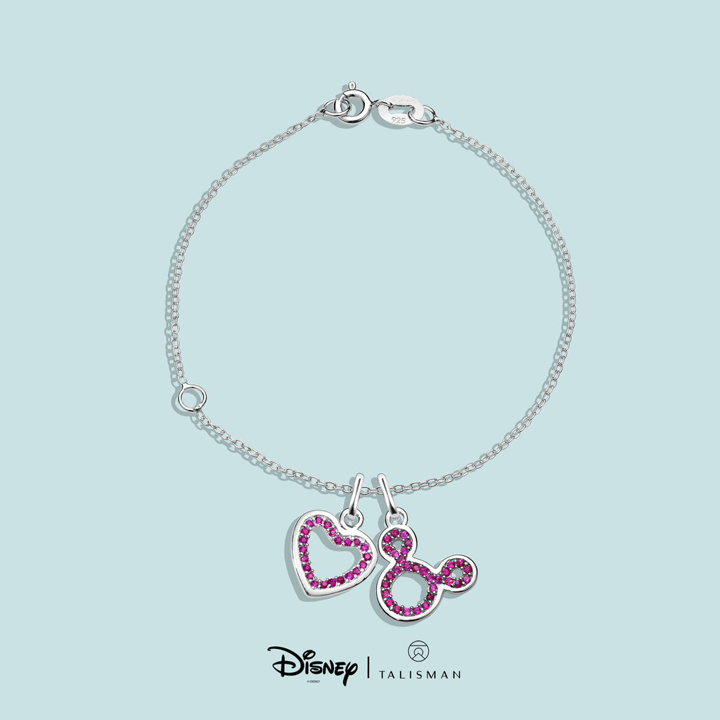Bracelets | Colour Me Red Heart Bracelet | Disney | TALISMAN