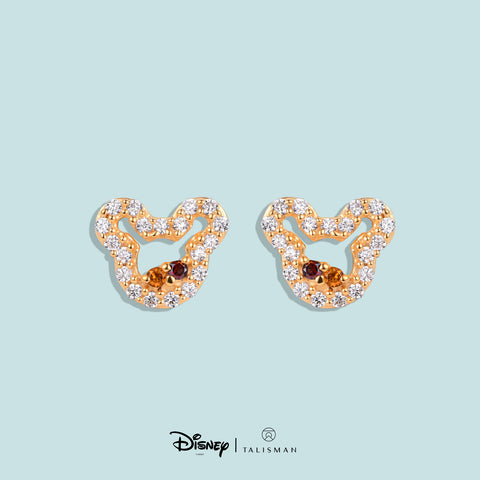 Online Earrings | Colourful Mickey Mouse Silhouette Earrings | Disney | TALISMAN