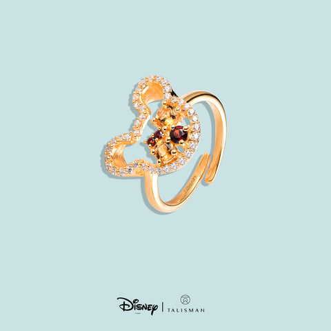 Rings For Women | Colourful Mickey Mouse Silhouette Ring | Disney | TALISMAN