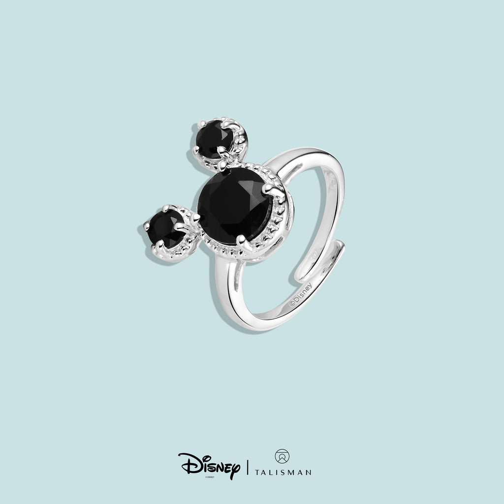 Rings For Women | Mickey Mouse Black Onyx Ring | Disney | TALISMAN