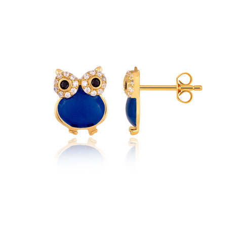 Wide-Eye Owl Earring
