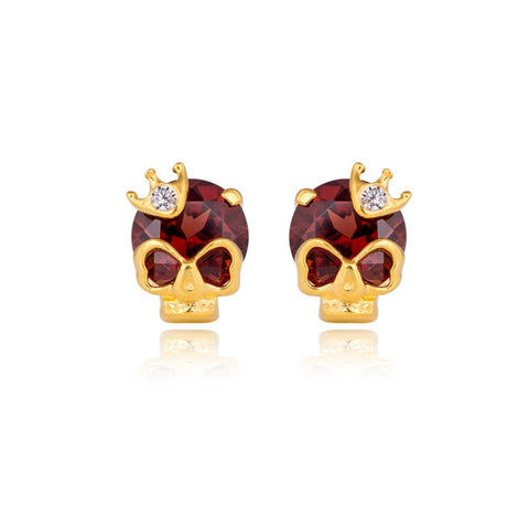 Skulled-Queen Earrings