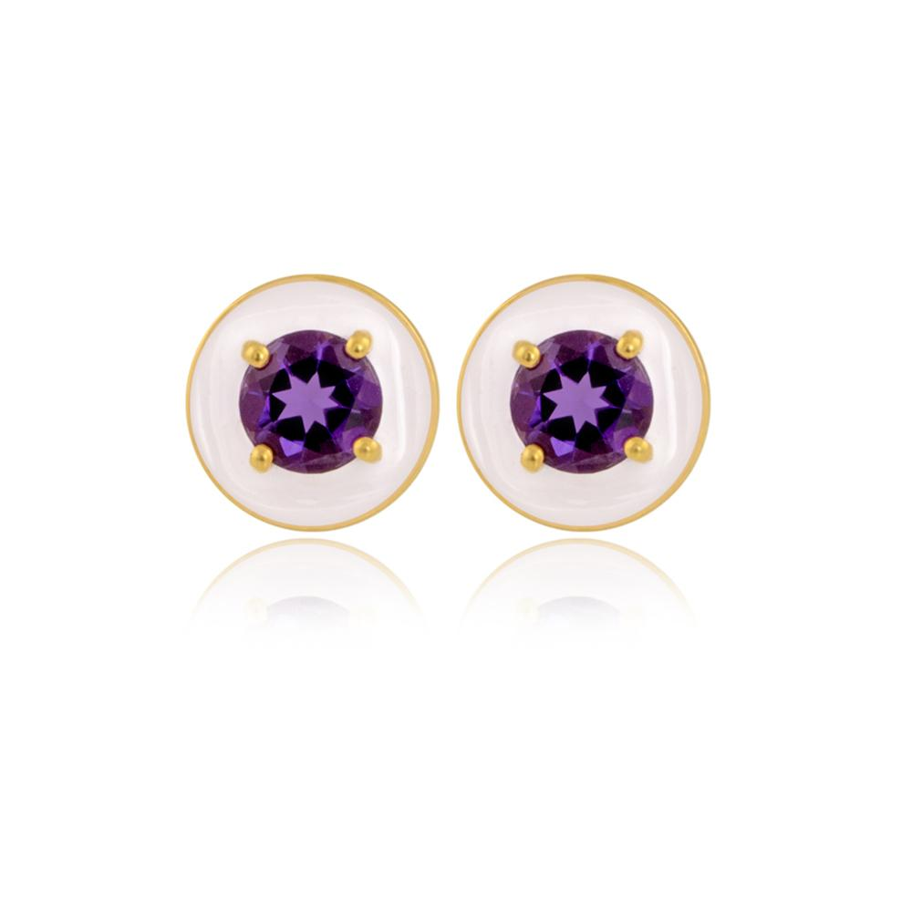 Illusion Amethyst Earrings