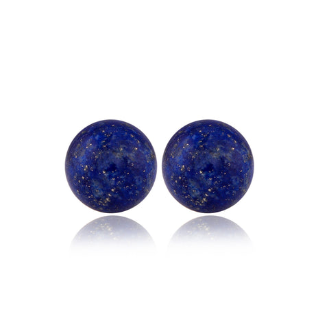 Globe Lapis Lazulli Earrings