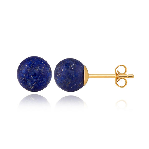 "Shop Sterling Silver Earrings | Globe Lapis Lazulli Earrings | ""9 to 9"" Office Wear 