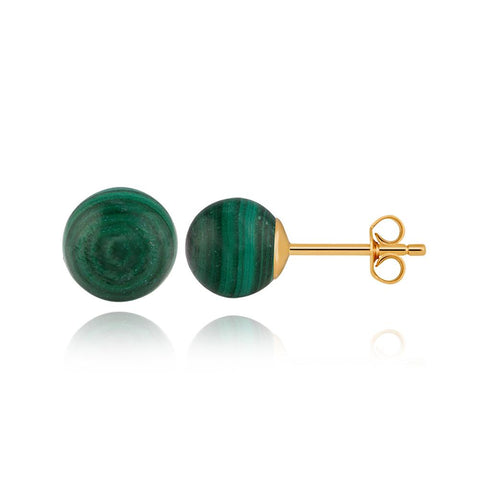 Globe Malachite Earrings
