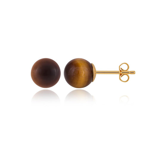 "Buy Silver Earrings | Earth Tiger Eye Earrings | ""9 to 9"" Office Wear 