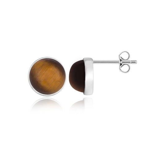 Bold Tiger Eye Earrings
