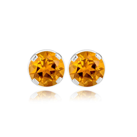 Orange Moon Earrings