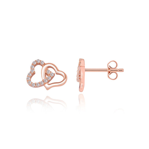 Intertwined Heart Earrings