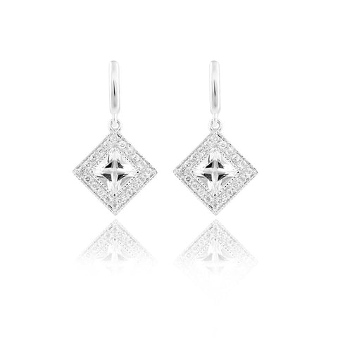 "Shop for Drop Earrings | Majestic Multi-faceted Drop Earrings | ""9 to 9"" Office Wear 
