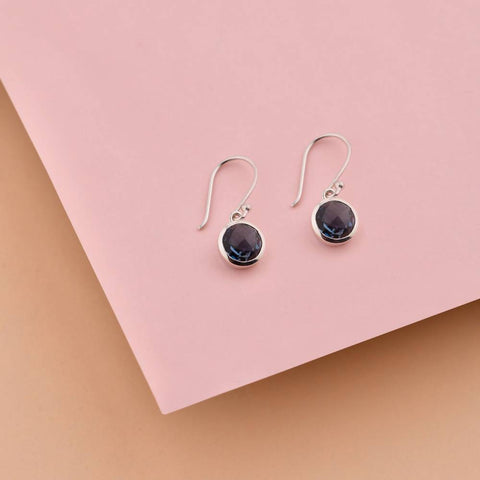 Earrings Online Shopping | Blue Sparkling Earrings | Earrings | TALISMAN