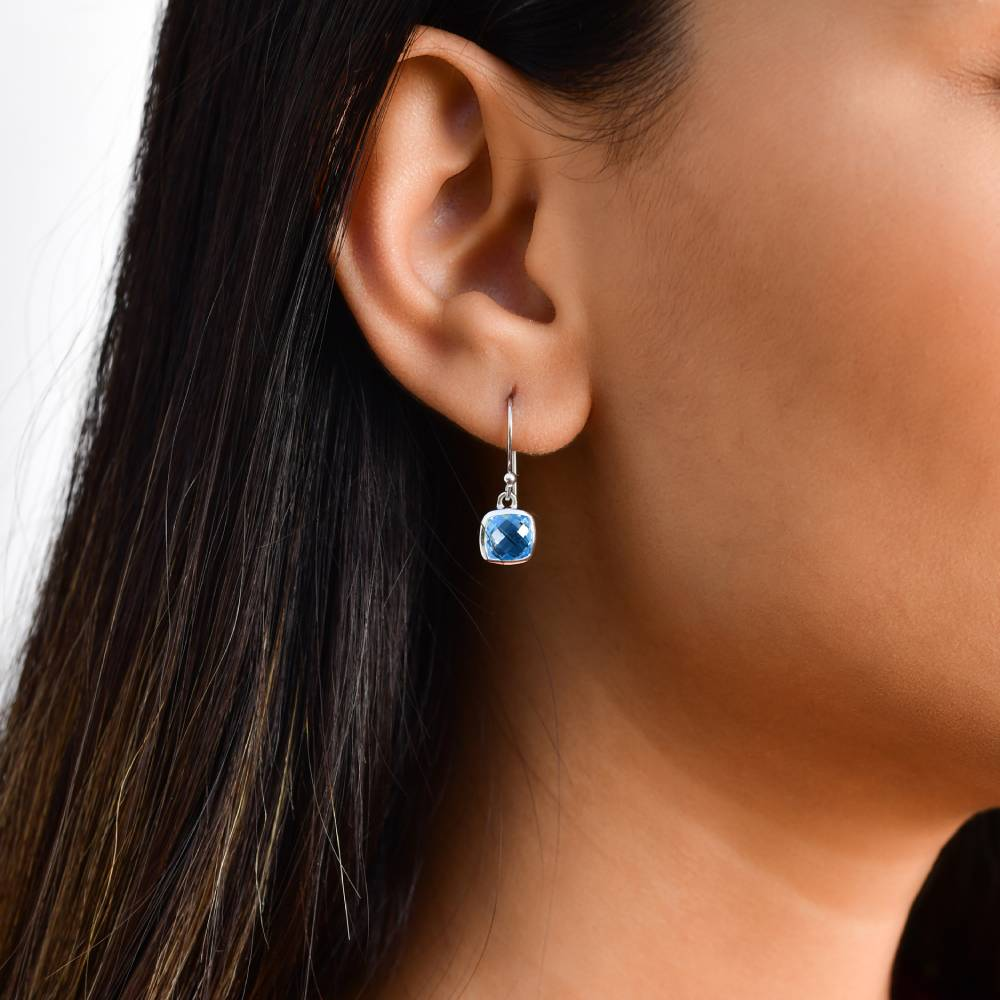 Silver Earrings Online | Demi Cool Blue Earrings | Earrings | TALISMAN