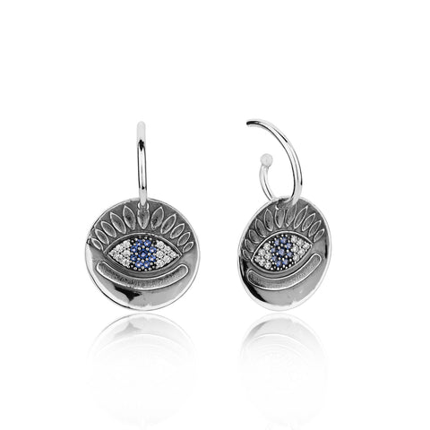 Buy Earrings Online | Protect me Evil Eye Hook Earrings | Evil Eye | TALISMAN