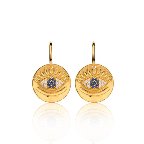 Protect me Evil Eye Hook Earrings