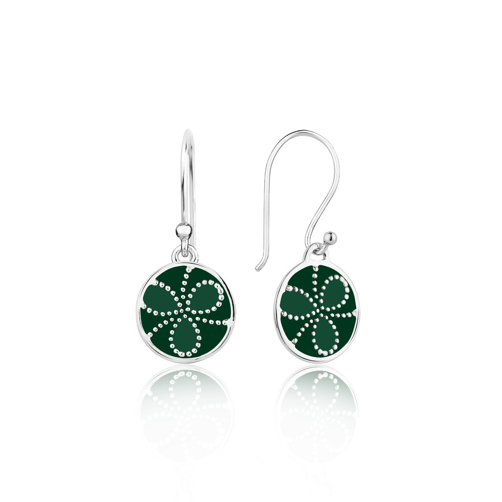 Shades of green Sterling Silver Earrings