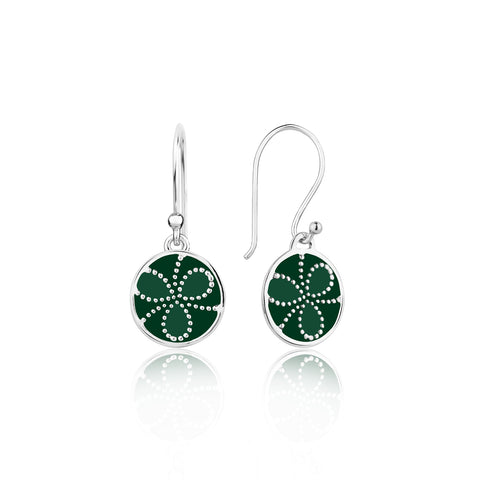 Buy Sterling Silver Earrings | Shades of green Sterling Silver Earrings | Ombre' | TALISMAN