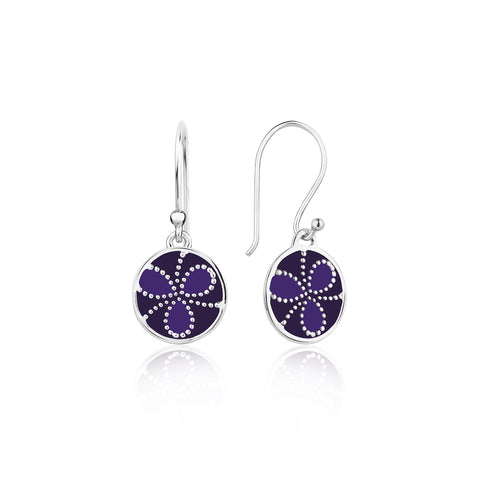 Color me lavender Sterling Silver Earrings