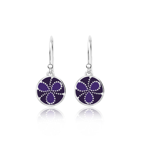 Earrings Online | Color me lavender Sterling Silver Earrings | Ombre' | TALISMAN