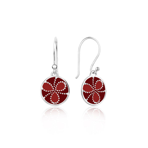 Buy Earrings Online | Shades of red Sterling Silver Earrings | Ombre' | TALISMAN