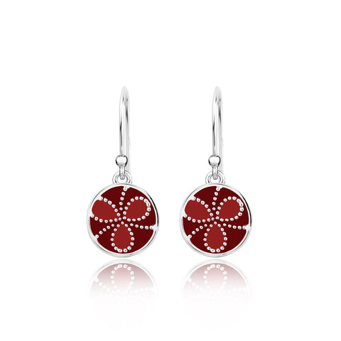 Shades of red Sterling Silver Earrings