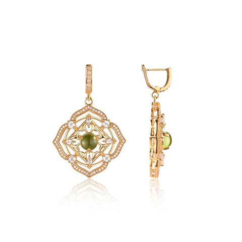 Sparkling Stone Drop Earrings