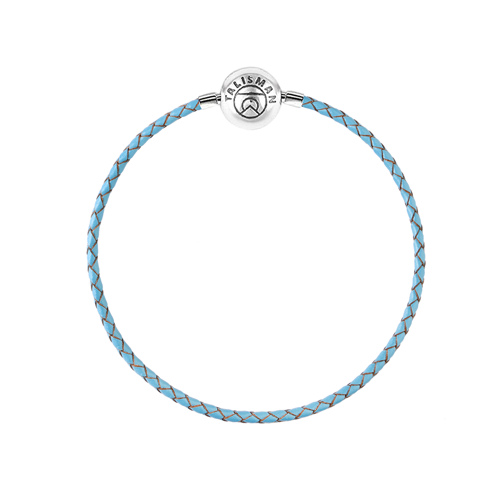 Essence Braided Leather Bracelet - Blue