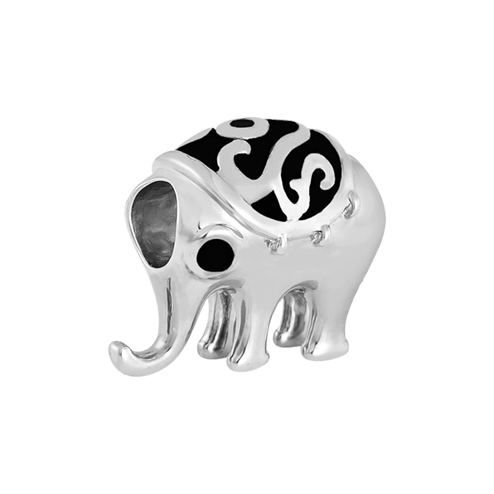 Exuberant Elephant Charm - Online shopping for Silver Bead Charms Online, Shop from the great collection of Bead Charms for Bracelets, Silver Dangle Charms, Silver charms for bracelets. Exclusive collection of Charms For Bracelets, bracelets for womens silver, charms for bracelets silver available. Free Shipping COD Available.