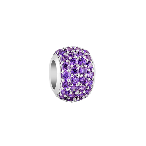 Purple Pave Filler Charm