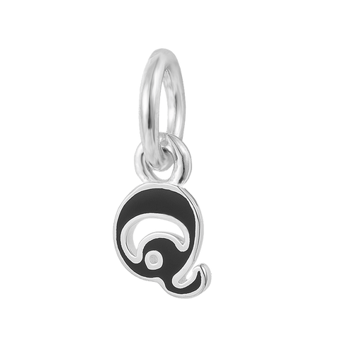 """Letter Q"" Silver Charm"