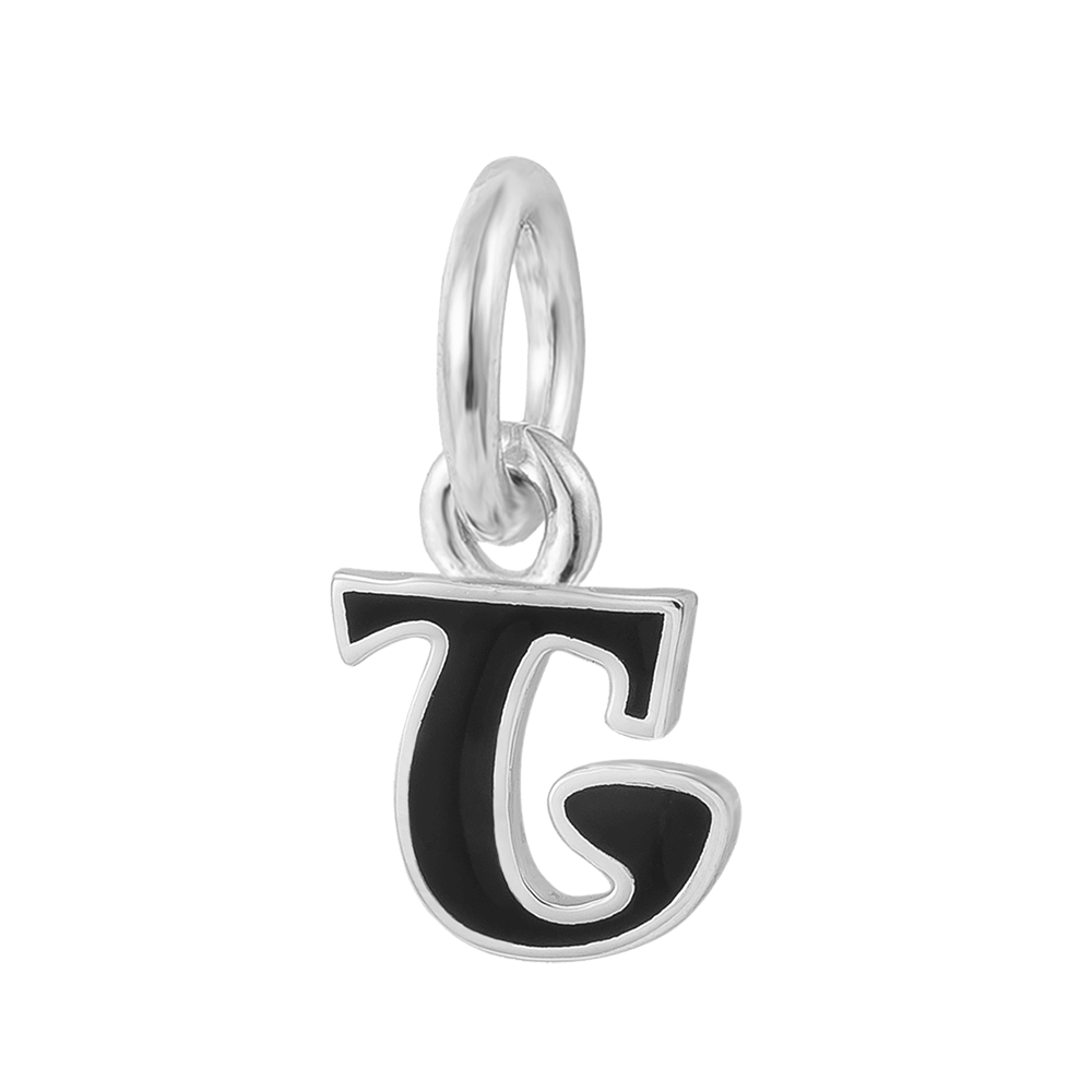 T Alphabet & Letter Charms for Women | Sterling Silver Initial Charm for Womens