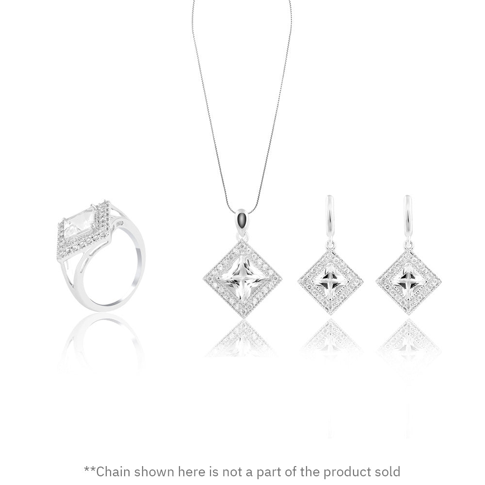 Buy Majestic Multi-faceted Set Online from Talisman World. Find a wide collection of women's Jewellery Sets, fashion jewelry sets, bridal jewelry sets, jewelry set online, jewelry set for wedding online at Talisman World