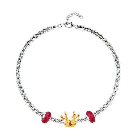 Queen's Crown Charm Bracelet