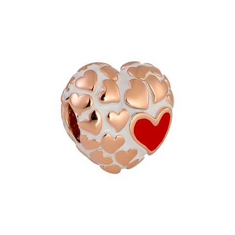 Floura Heart Charm,buy charms online in india,silver charms online,talisman world charms online
