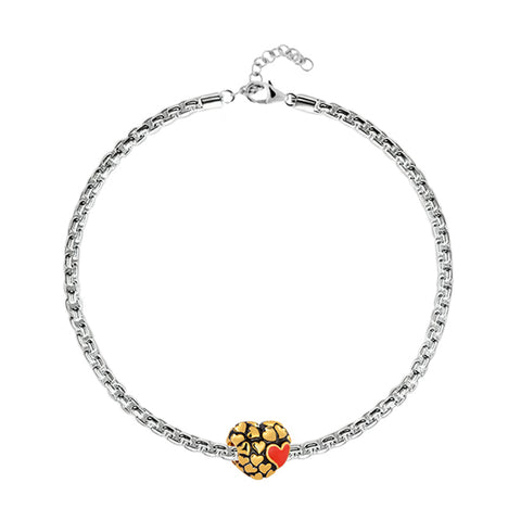 Floures Heart Charm Bracelet - Buy Charm Bracelet Online in India