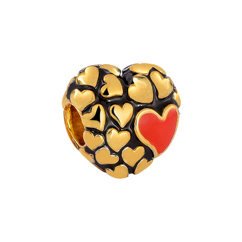 Floures Heart Charm,buy charms online in india,silver charms online,talisman world charms online
