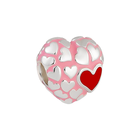 Floure Heart Charm,buy charms online in india,silver charms online,talisman world charms online
