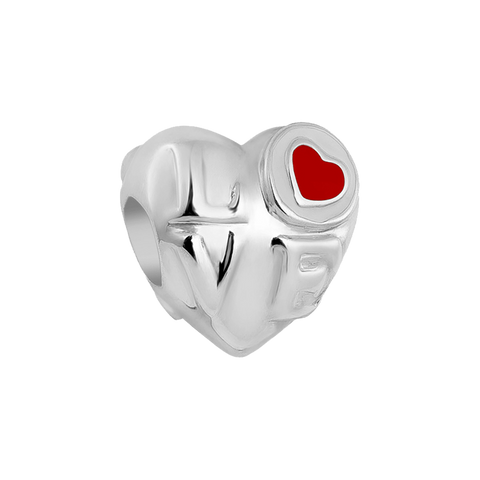 Amiye Heart Charm,buy charms online in india,silver charms online,talisman world charms online